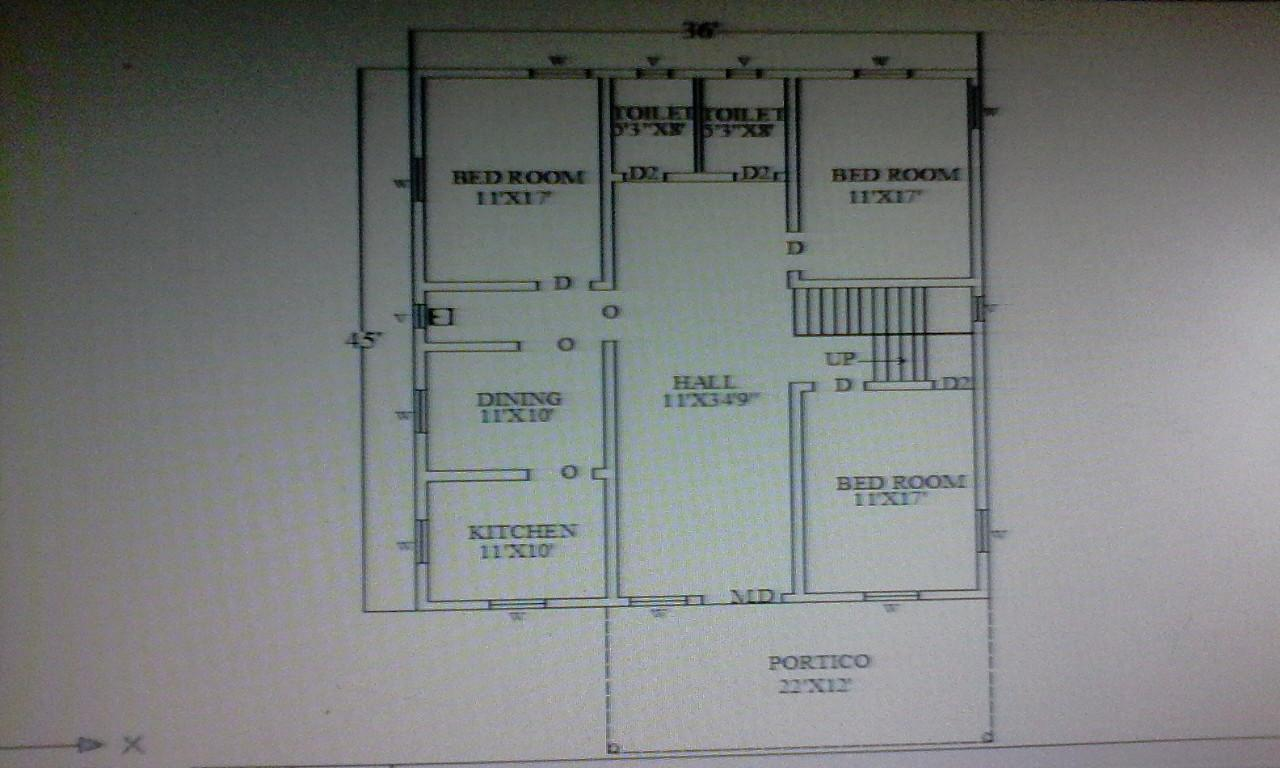 double bedroom plan