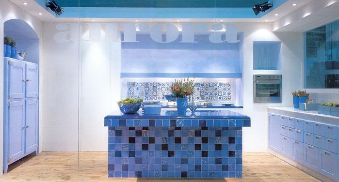 Mosaic Tiles On Kitchen Island