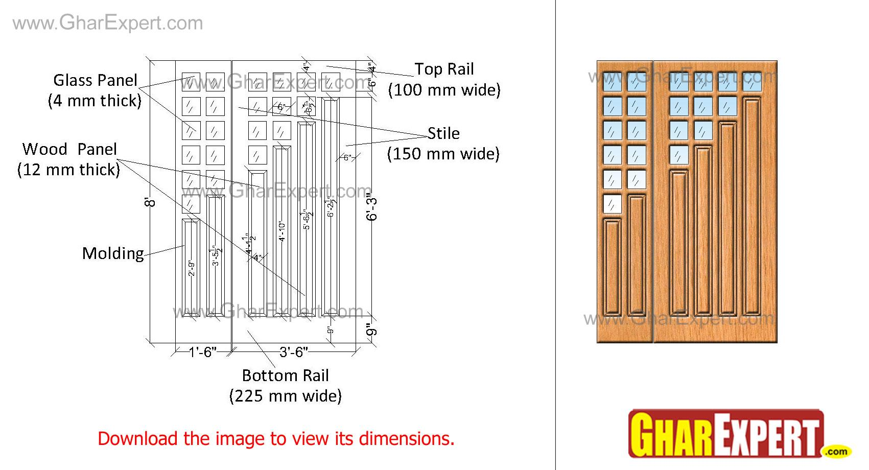 designer wooden interior door ....
