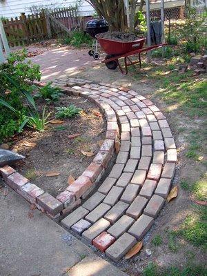 Garden Pathway Made from Brick