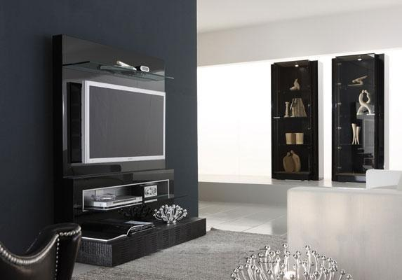 Living room TV unit wall textu....