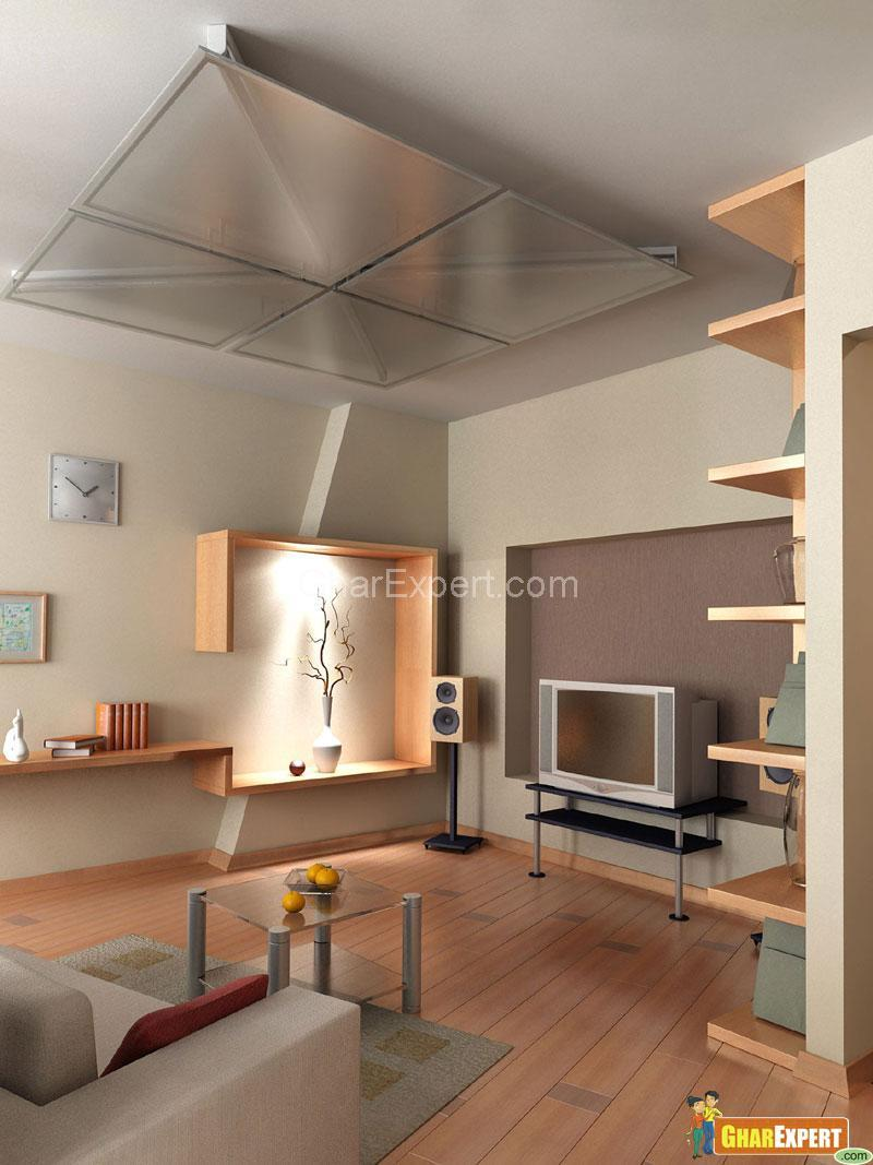 Glass Ceiling in Living Room