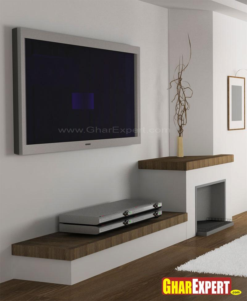 Lcd unit design gharexpert for Simple lcd wall unit designs