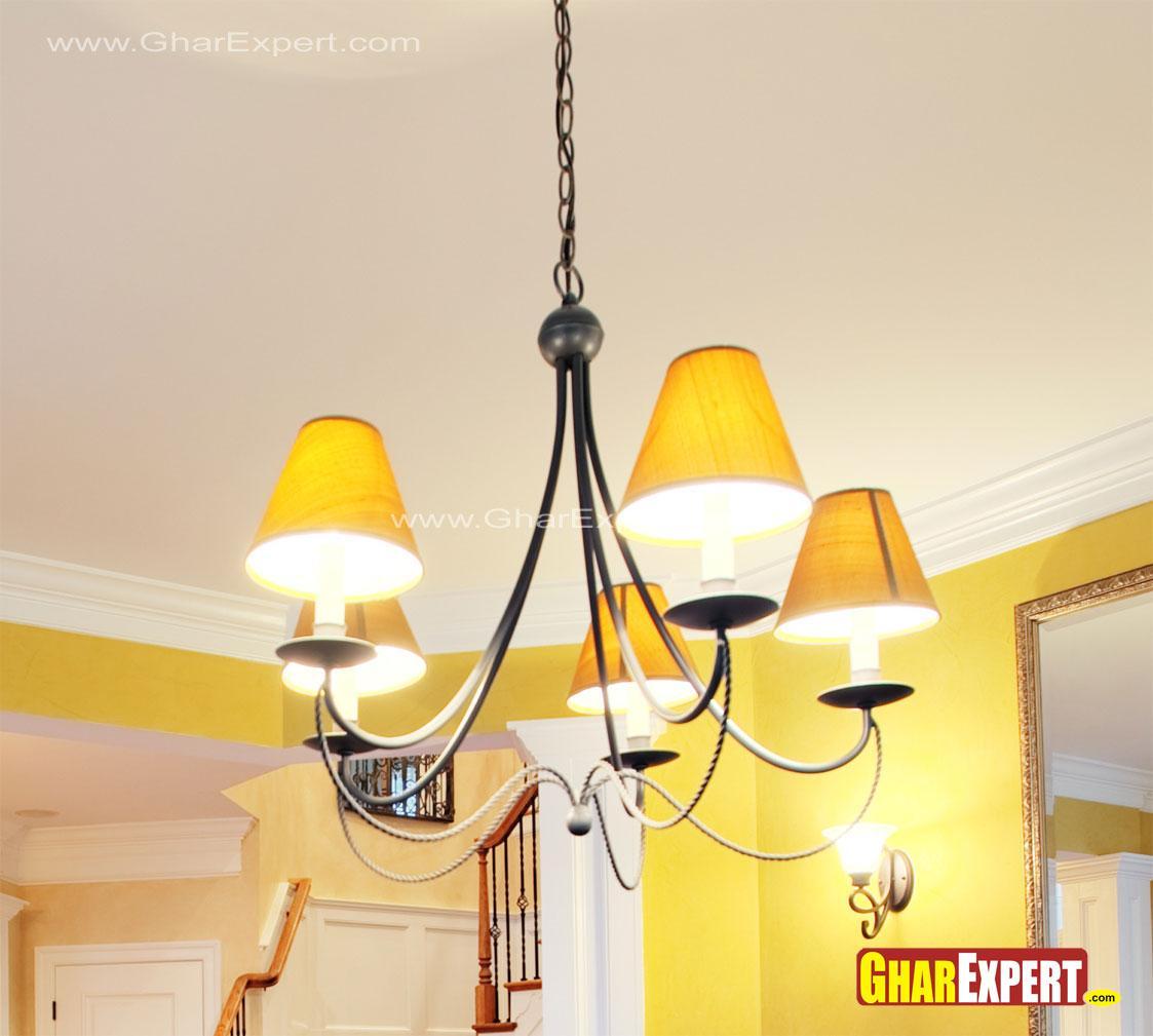Modern wrought iron chandelier....