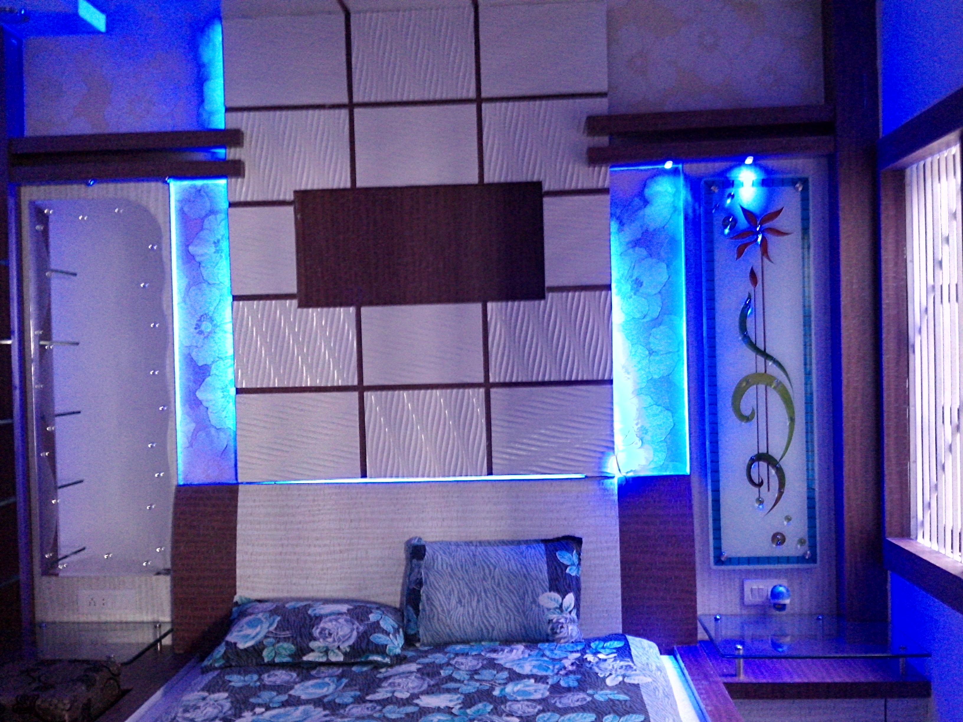 Bed headboard wall design  in ....