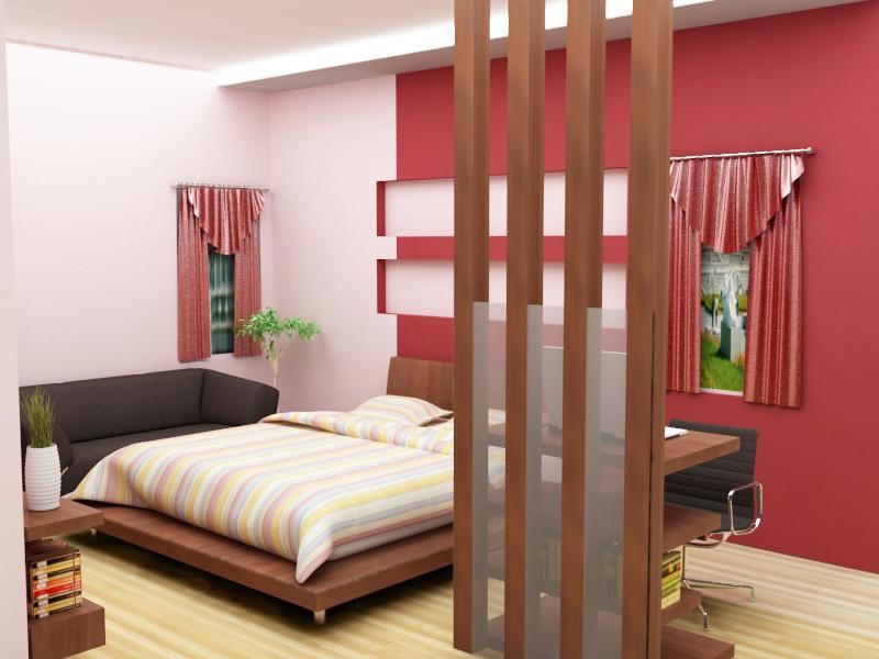 Low height bed in bedroom gharexpert for Decolam designs for living room