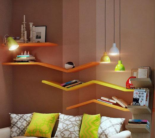 Colorful bookshelves for kids ....