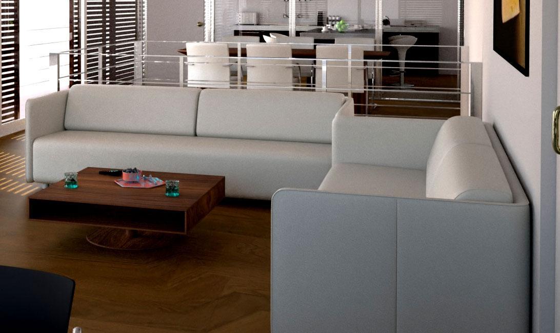 White modern sofa for living r....