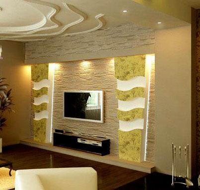 Designer Wall Cladding For Mounted Tv GharExpert