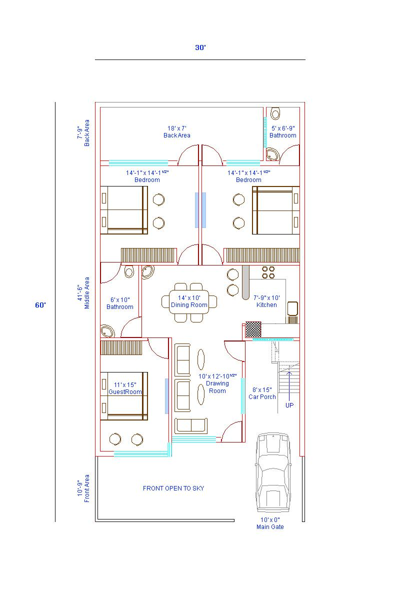 House Map Design 30 X Home Plans 60 Free Custom Plan For