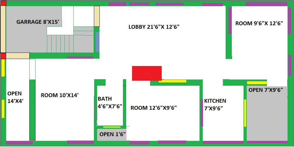 house plan for 25 x50 GharExpert