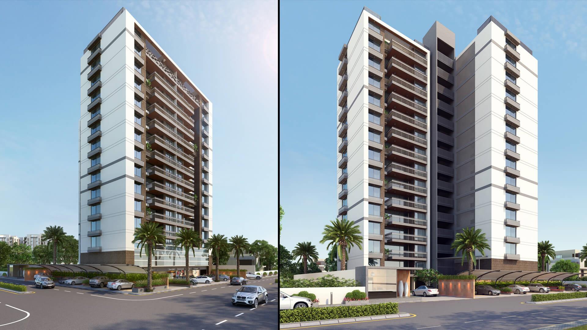 3D HI-Rise Building Exterior D....