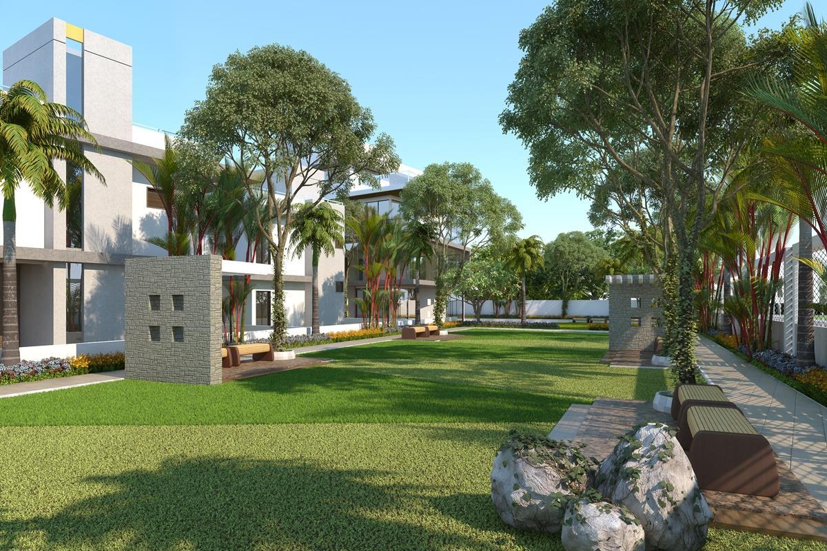 3D Residential House Garden Vi....