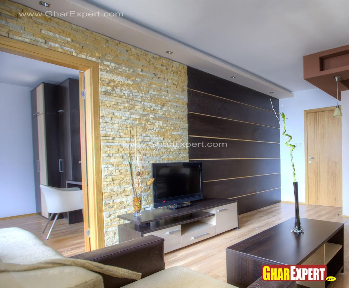 Lcd unit wall design in living room gharexpert - Lcd wall designs living room ...