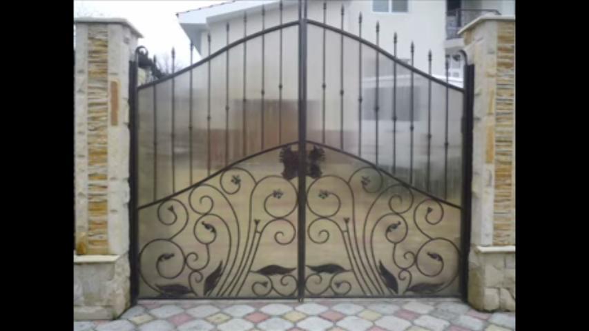 Main Gate Design In Steel With Fiber Sheet For Safety Gharexpert