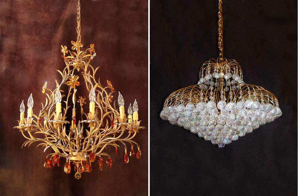 Crystal Chandeliers with Metal....