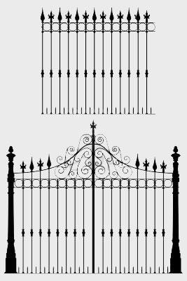 iron gate and grill design dra....
