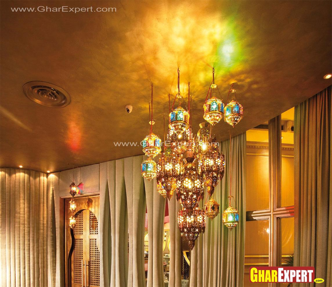 Decorative golden hanging ligh....