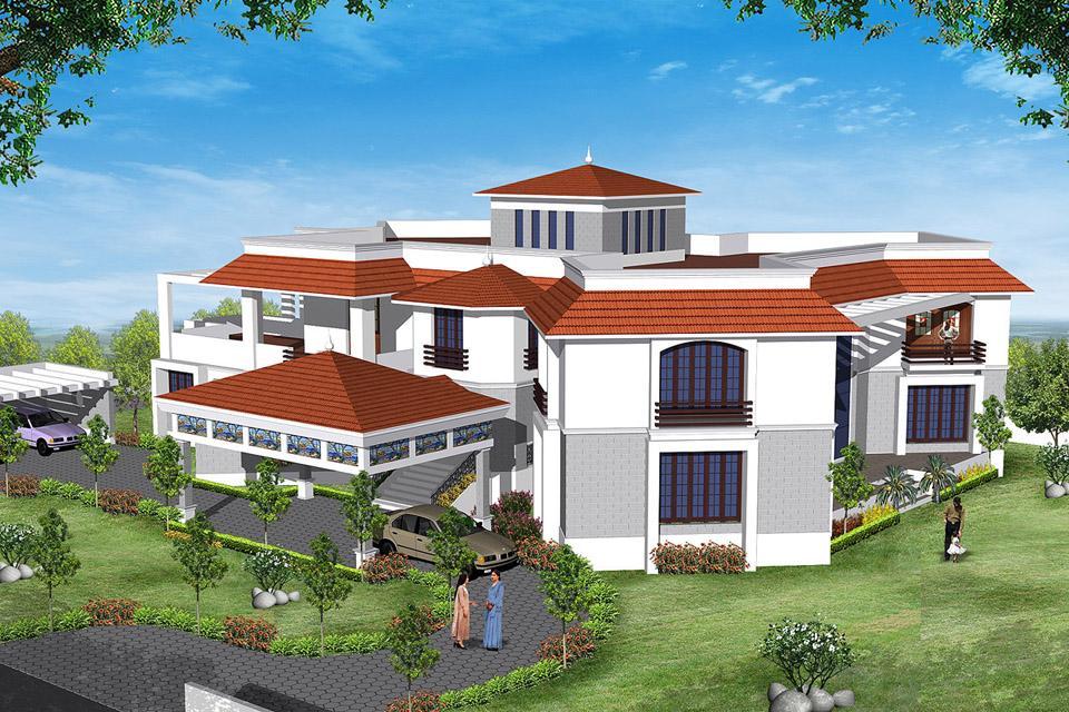 Exterior elevation design for ....