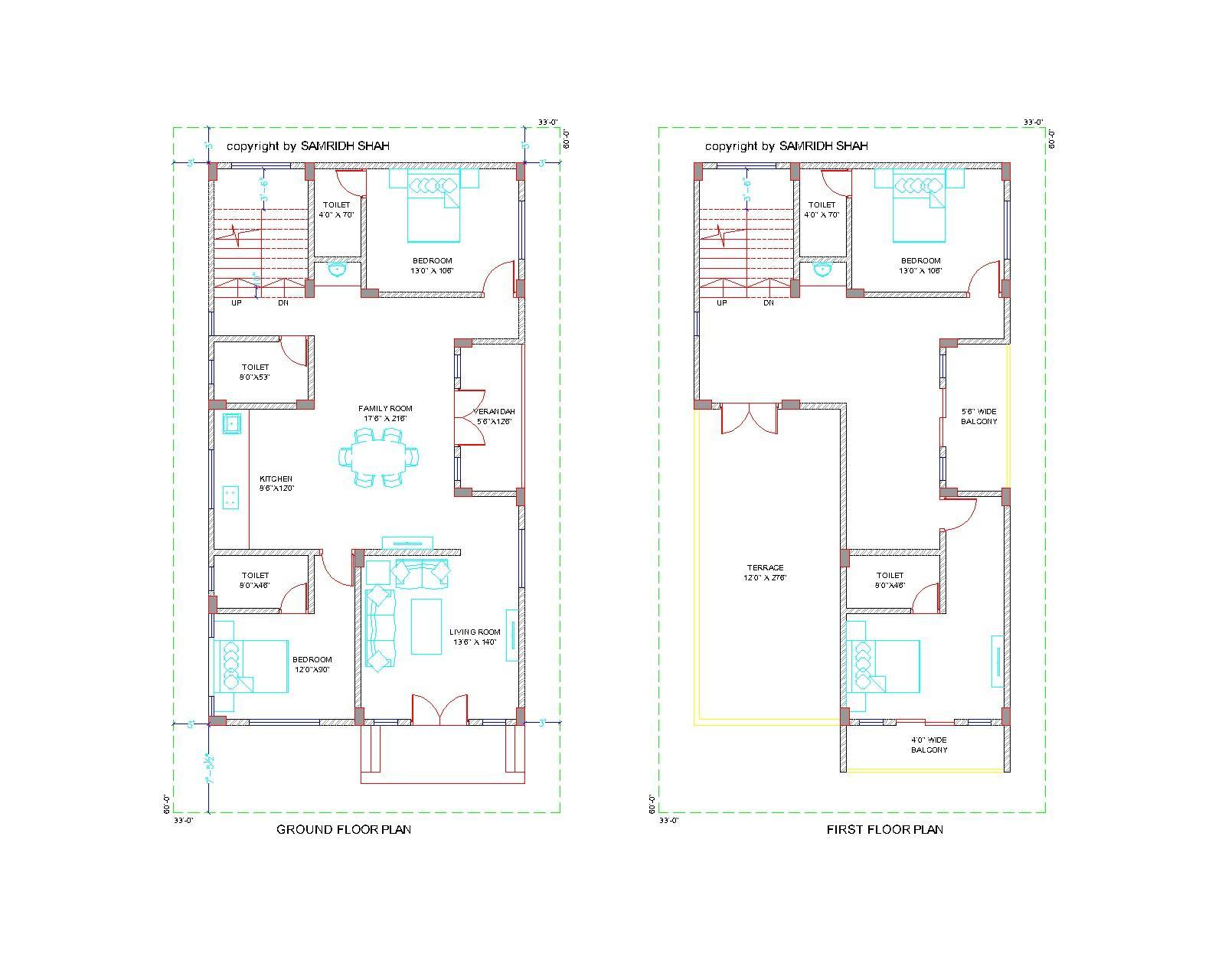 1800sq.ft Design Bungalow