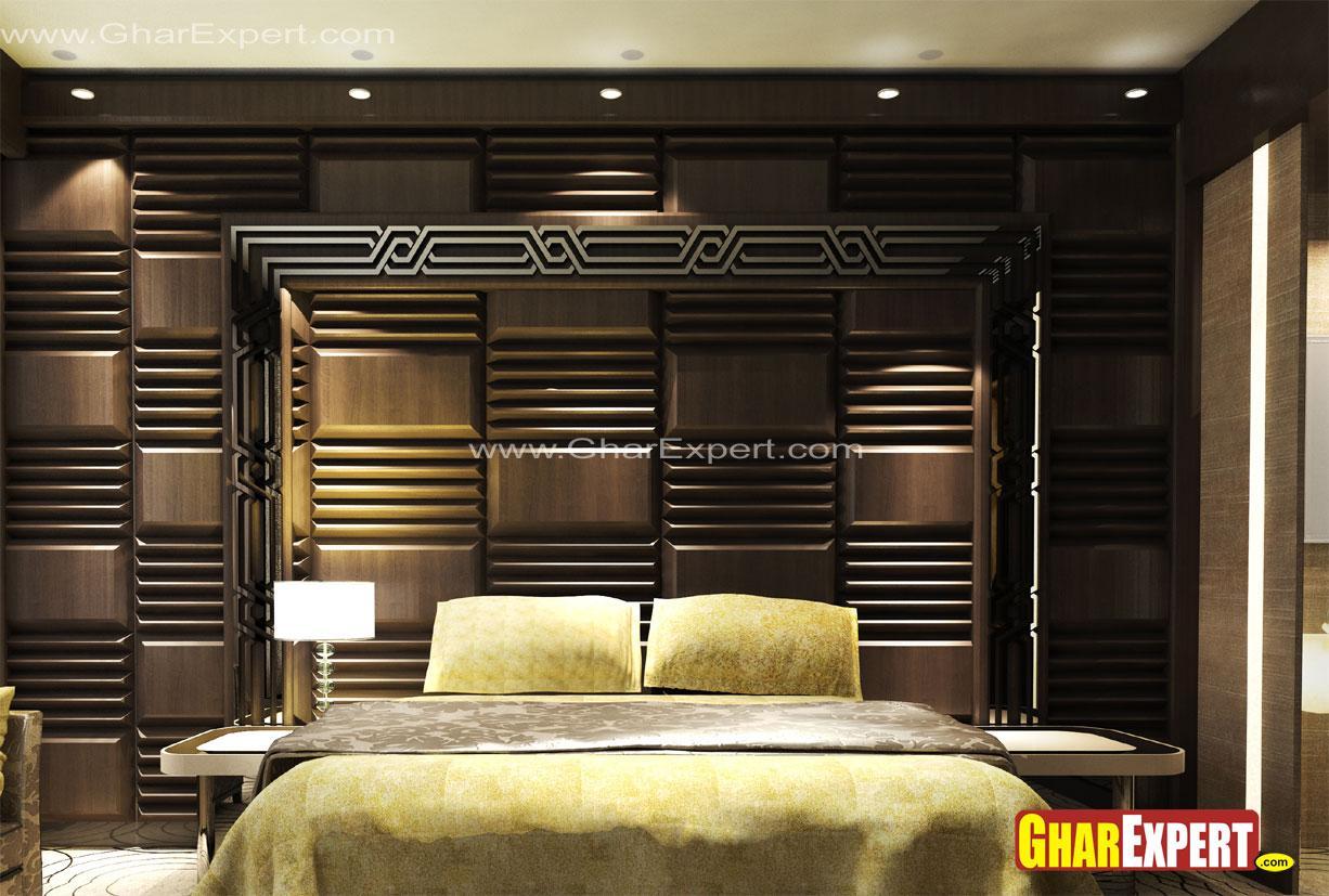 wooden headboard wall design f....
