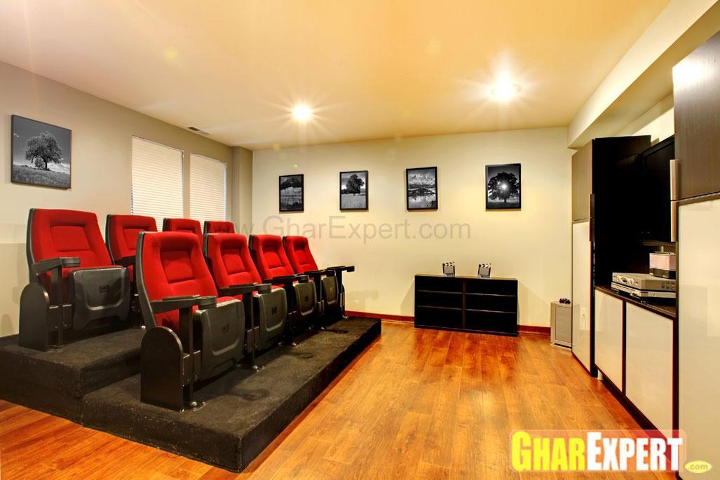 Home theatre with multi-sittin....