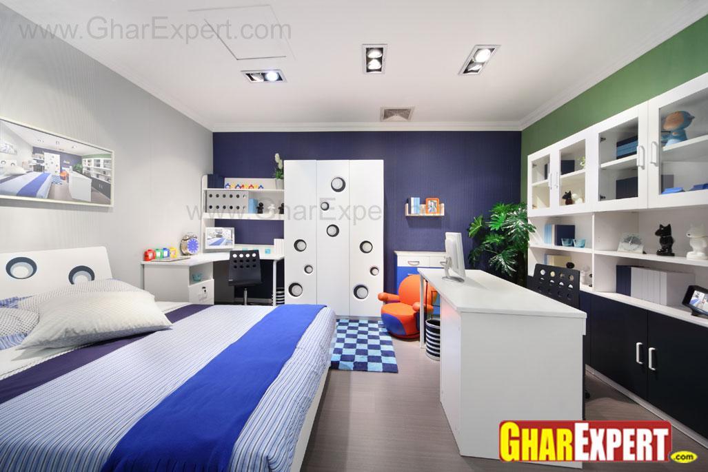 kids room with study area