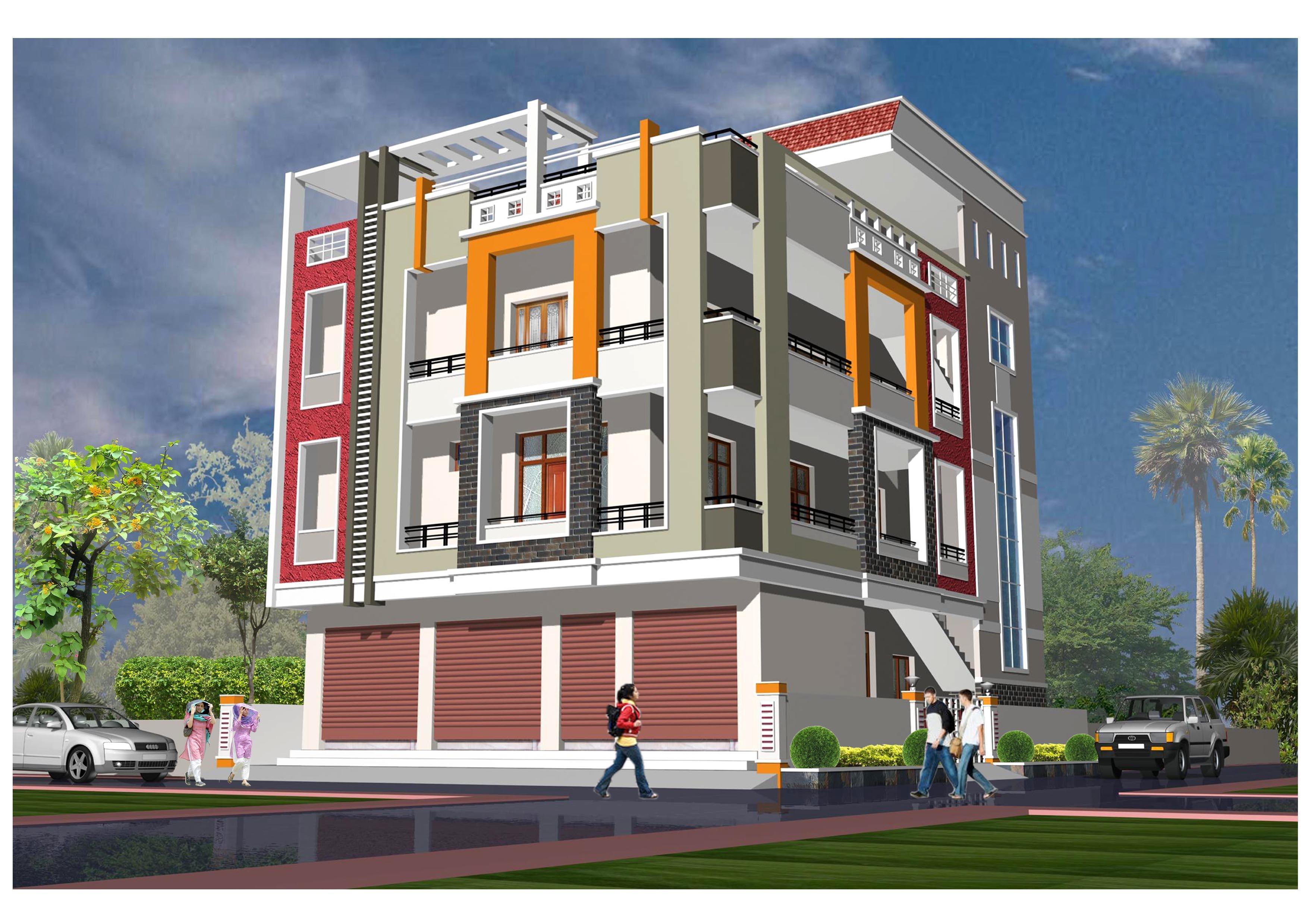 external elevation gharexpert On external elevations residential buildings