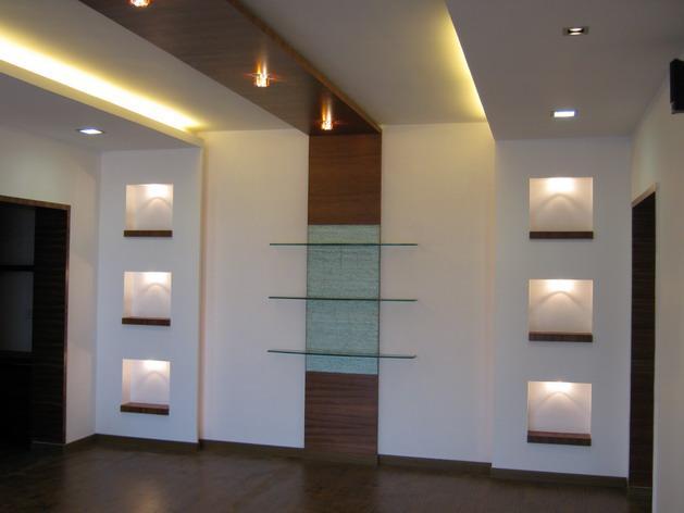 living room wall design - GharExpert