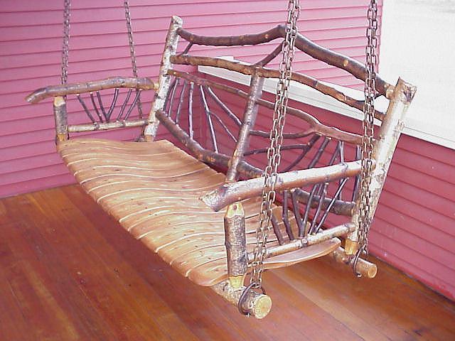 Rustic Porch Swing