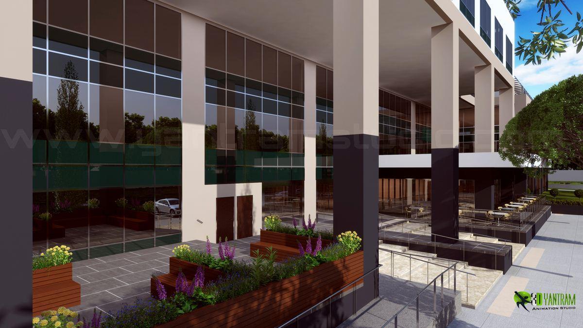 3D Spacious Building Exterior ....