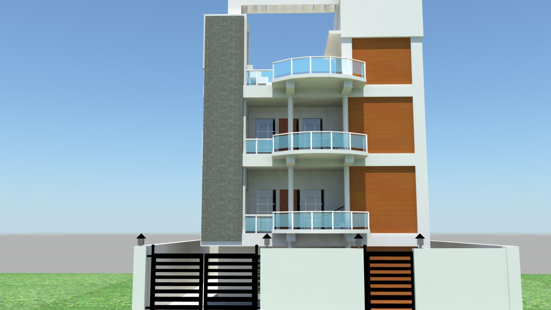Elevation design gharexpert for Building outer design
