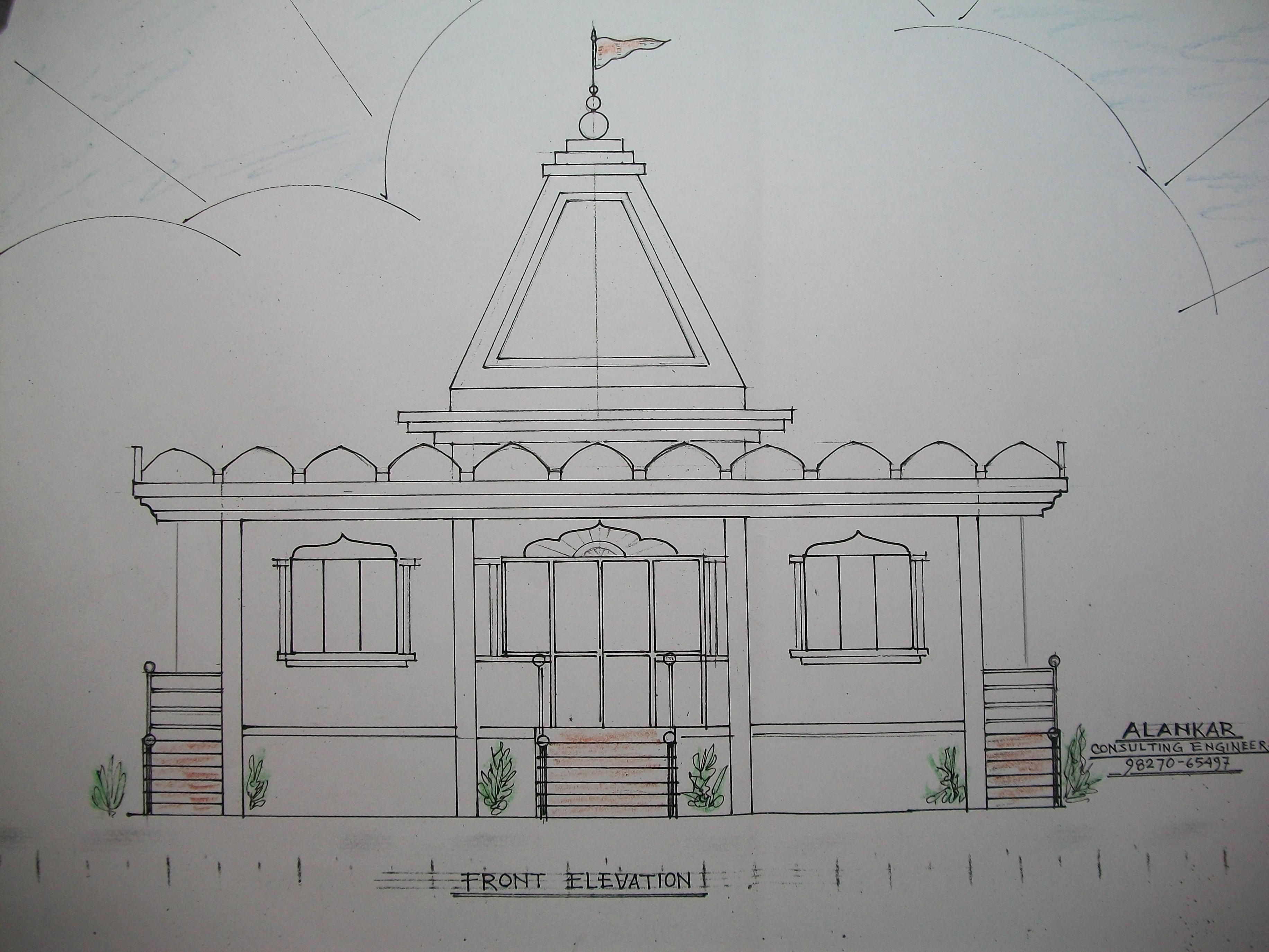 A Temple .simple Elevation