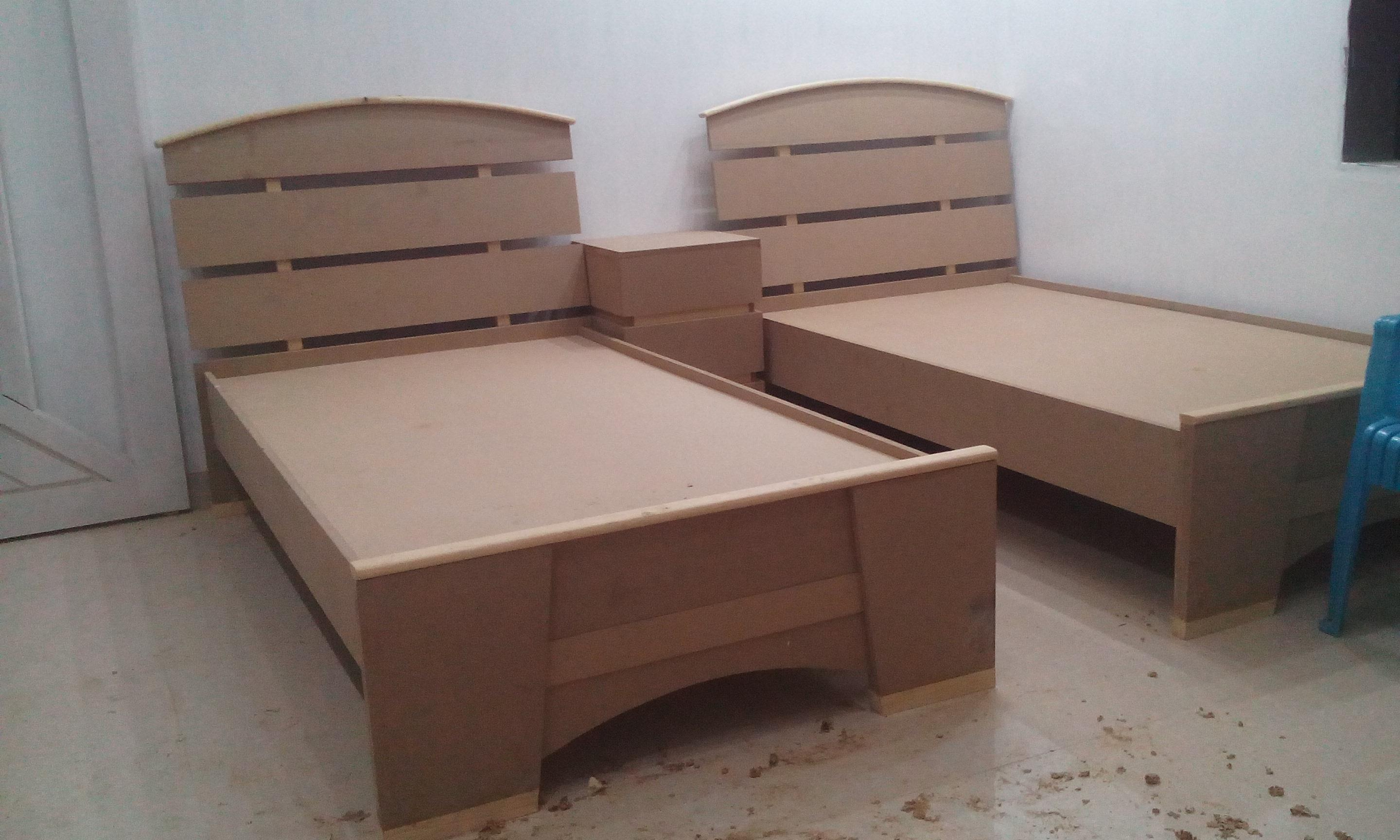 Single Bed In Wood Gharexpert