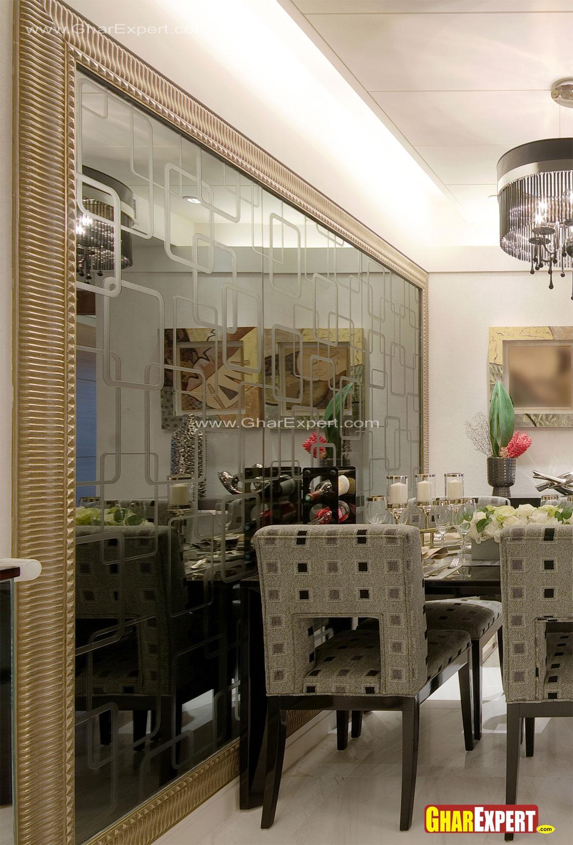 designer  glass wall decor for....