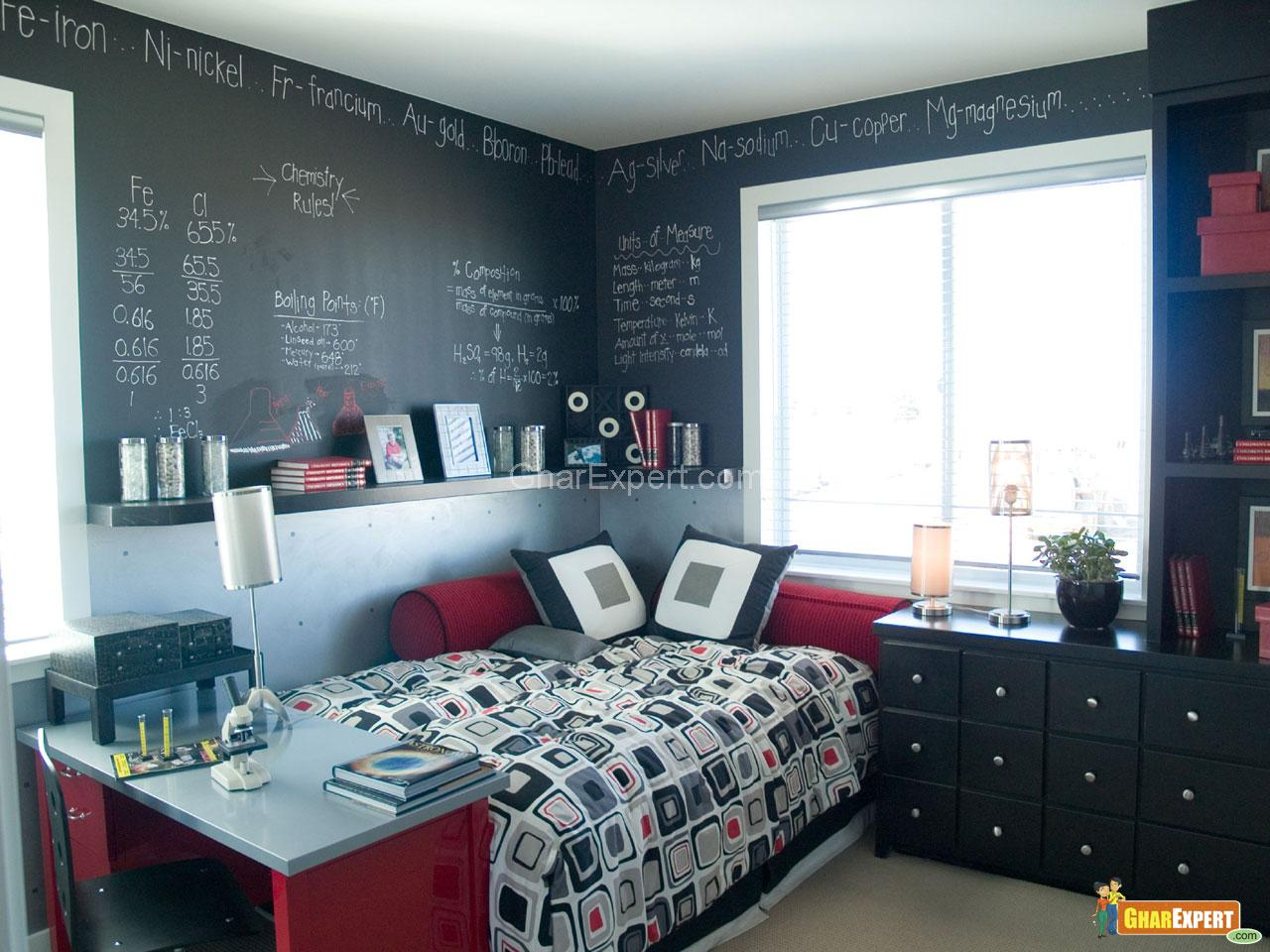 Funky Bedroom With Chalk Board Walls Gharexpert