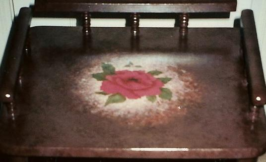 Rose Flower painted on the cha....