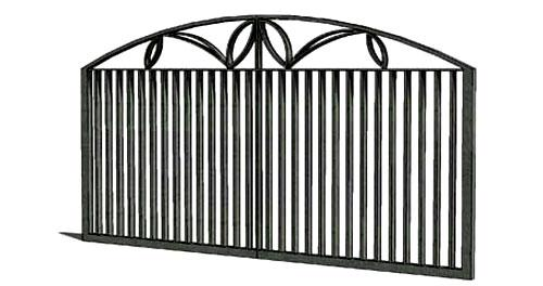 Wrought iron gate design for m....