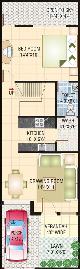 house plan 2 bed rooms