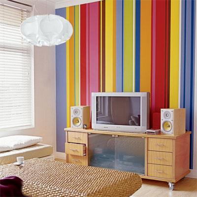 wall design colorful strips pa....