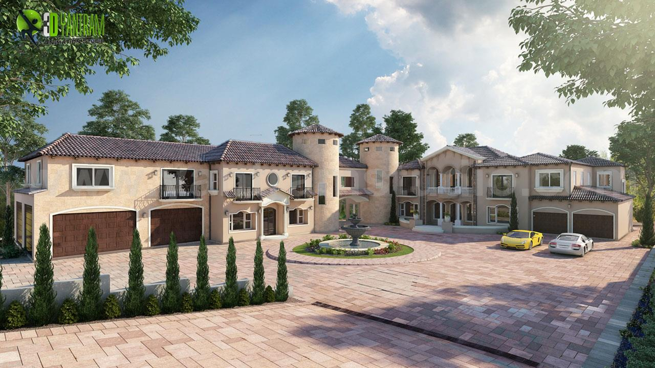 Ultra Semi-Modern Villa Exteri....