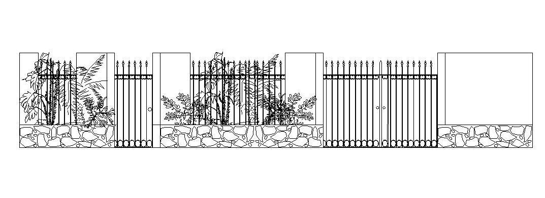 Wall Compound Grill Design : Grill gate and wall elevation design gharexpert