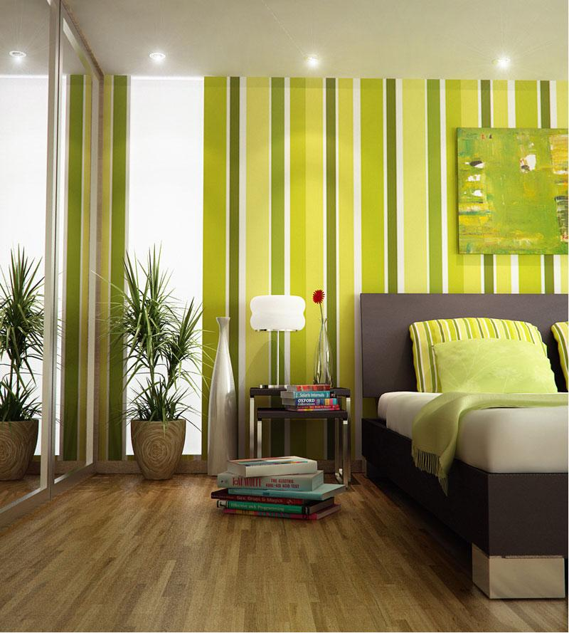 Green Stripes for Wall Decorat....