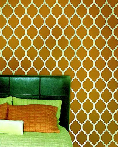 stencil wall painting pattern ....