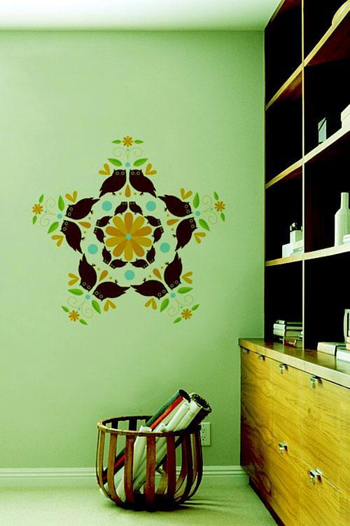 multicolored wall graphics dec....