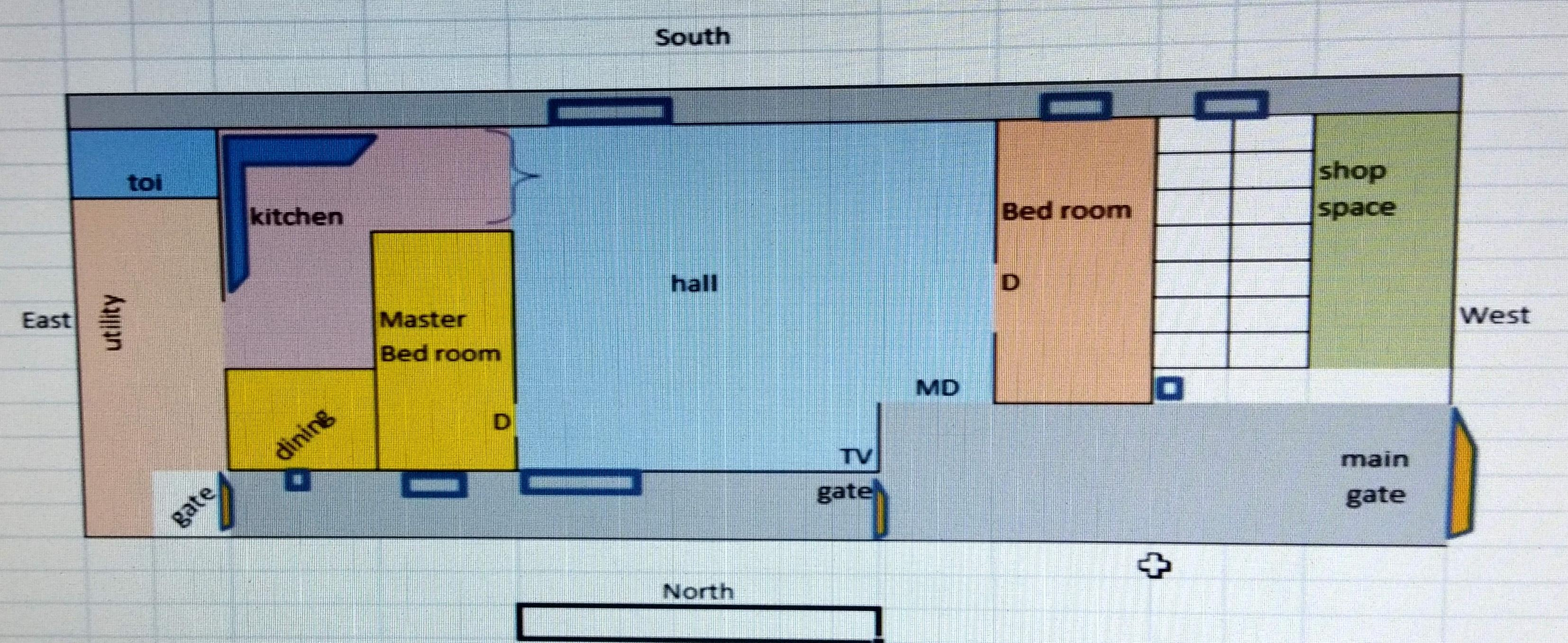 North Face 60x16 house plan