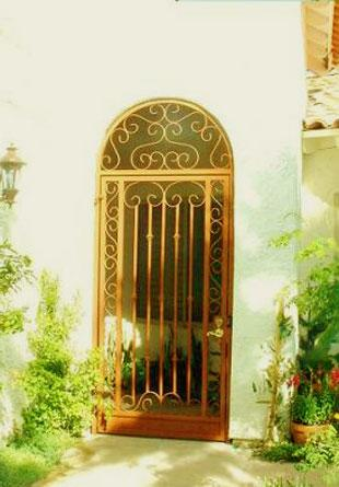 wrought iron gate for entrance....