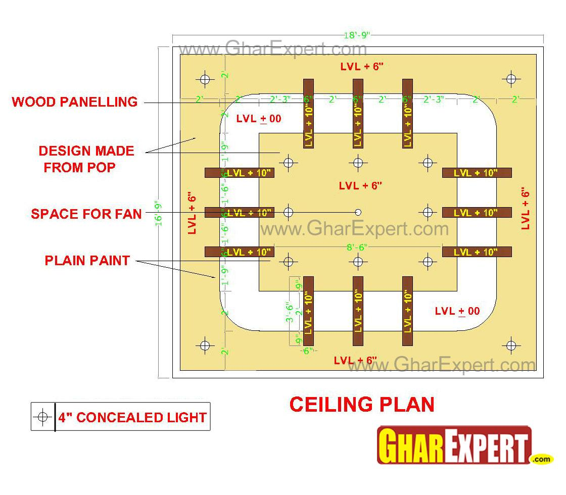 POP false ceiling design for 1....