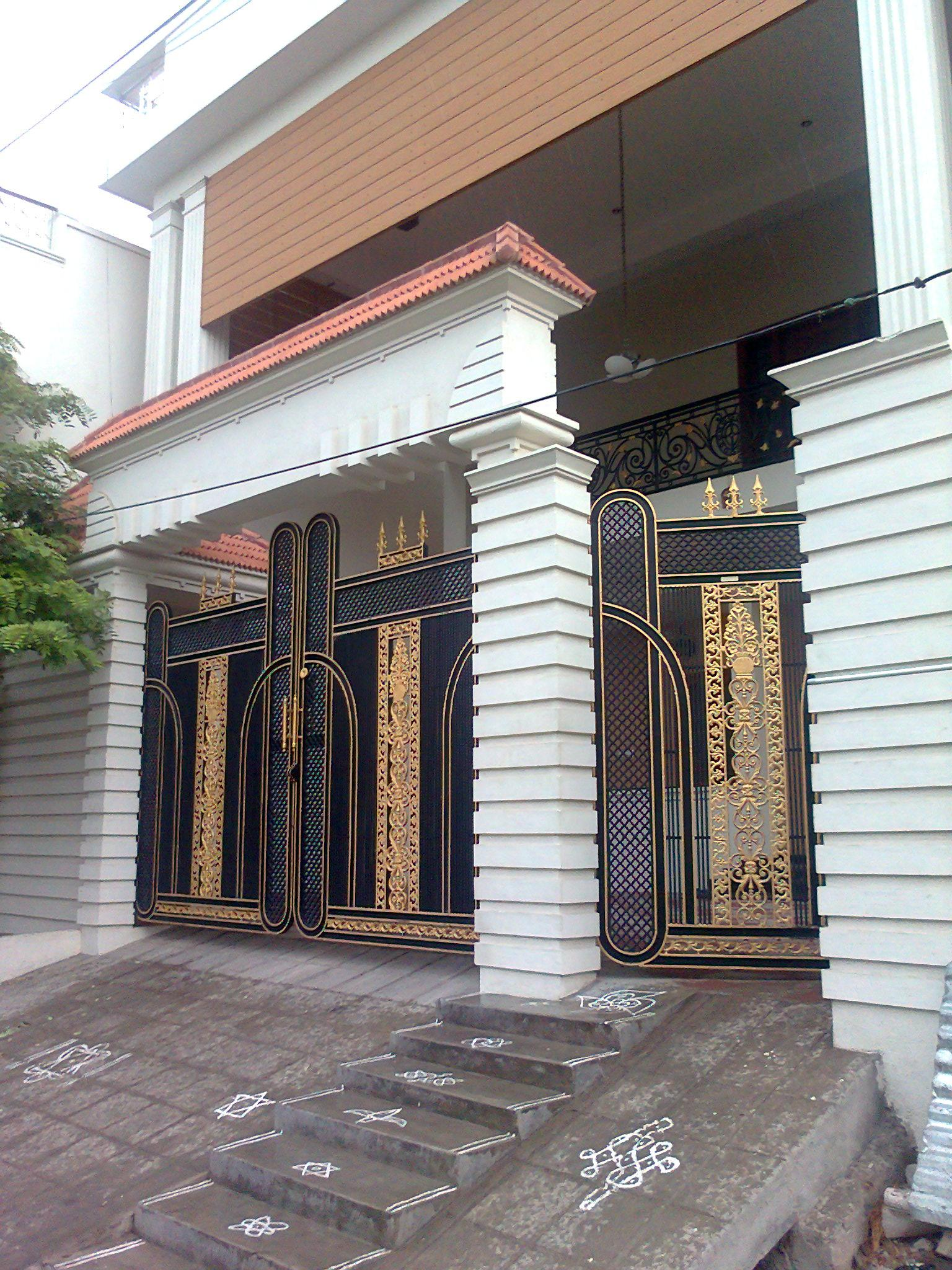 Gate designs entrance gate designs for home for Home gate architecture