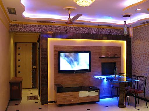 Minimal false ceiling design gharexpert - Modern showcase designs for living room ...